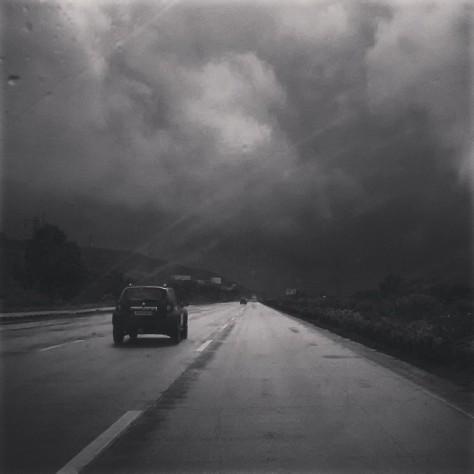 Image result for dark clouds in mumbai